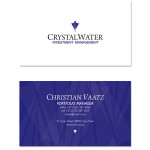 Crystal Water Investment Management - business cards